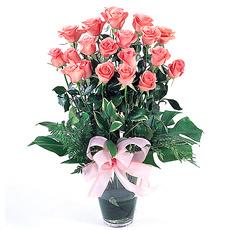 핑크장미꽃병